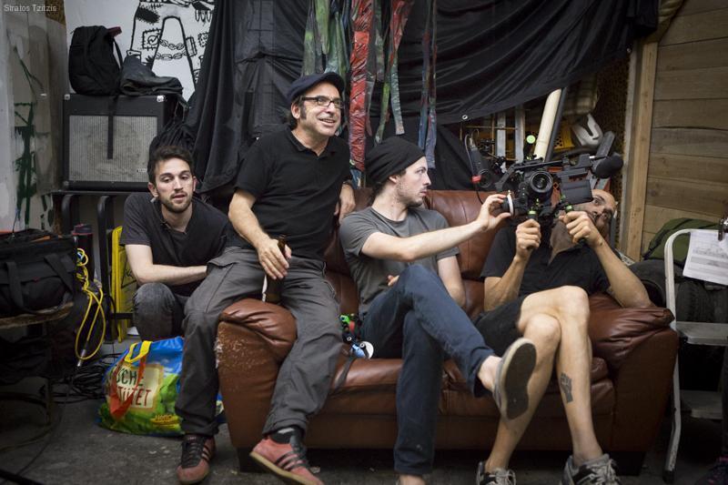 Stratos with camera team